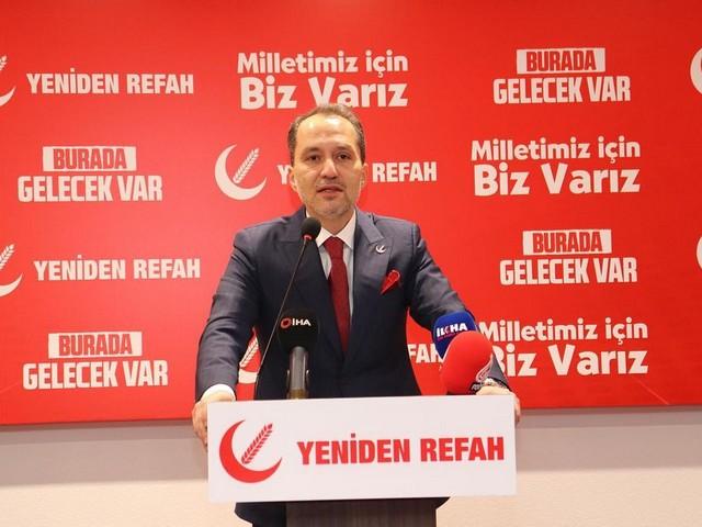 Yeniden Refah Partisi Genel Başkanı Dr. Fatih Erbakan,