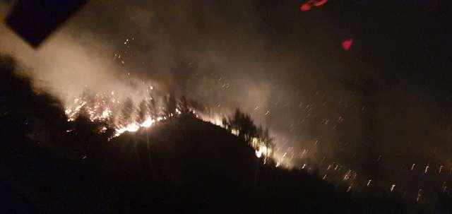 Kozan'daki yangında Jandarma köyleri tahliye ediyor