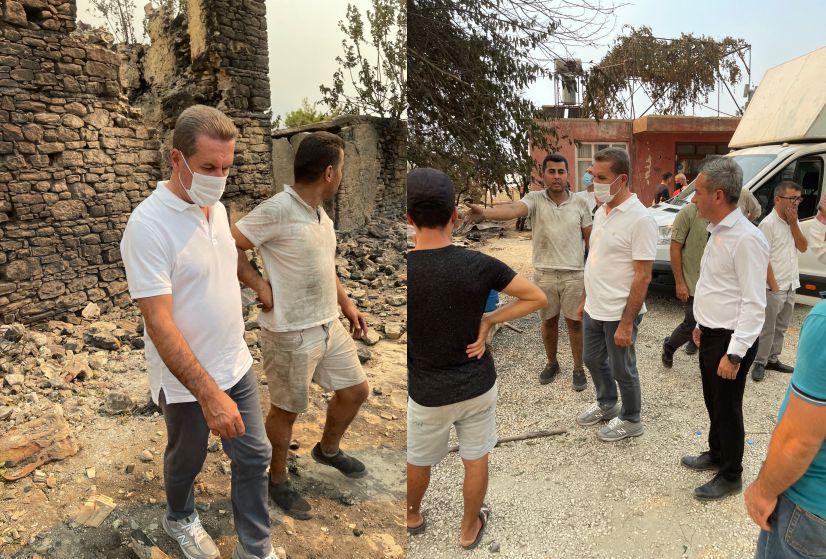 Türkiye Değişim Partisi Genel Başkanı Mustafa Sarıgül Orman Yangınlarını Daha Yakından İncelemek İçin Manavgat'a gitti.