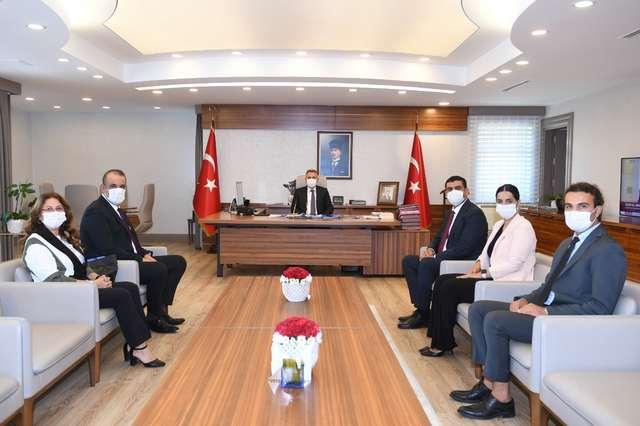 Baro Başkanı Gökayaz Ve Yönetim Kurulu Üyeleri, Adana Valisi Elban'ı Ziyaret Etti