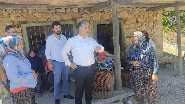 Deva Partisi Adana İl Başkanı Sadullah Kısacık, Yangından Zarar Gören Vatandaşları Ziyaret Etti