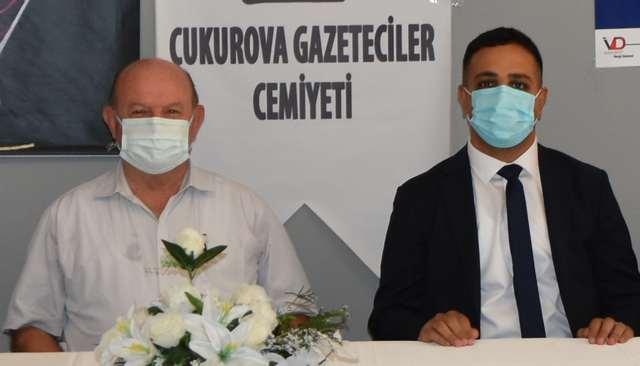 Adana Vergi Dairesi Başkanı Ümit Güner; Çukurova Gazeteciler Cemiyeti'ni ziyaret etti.