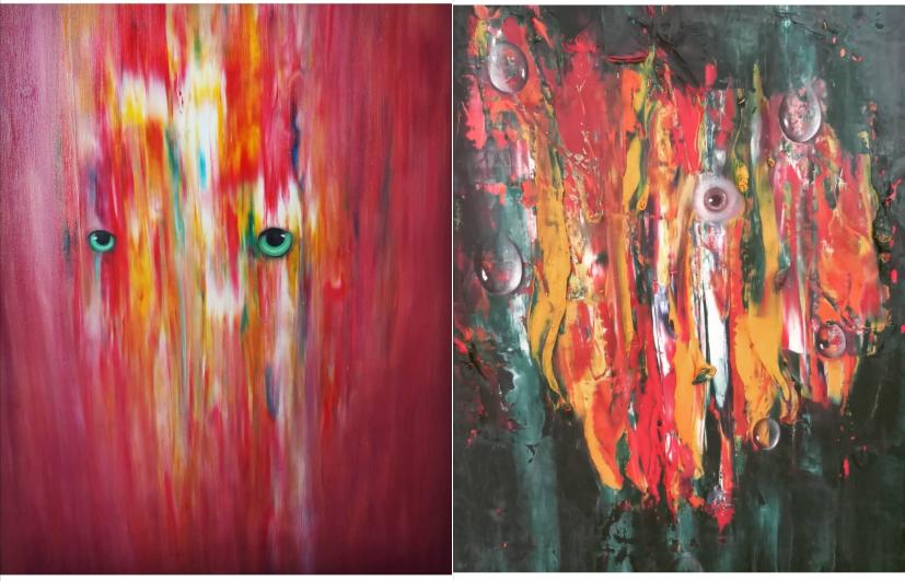 hayal gücüyle resimler yapan sanatçı