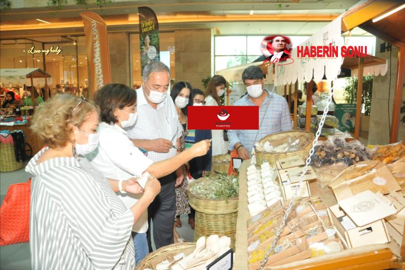 Kadın eli İşletme kooperatifi Esas 01 AVM de ürün tanıtım ve satış stantları