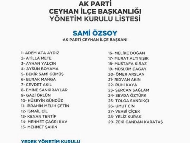 AK Parti Yüreğir, Seyhan ve Ceyhan İlçe Başkanlığı değişiminden sonra yönetim kurulu üyeleri de oluşturuldu