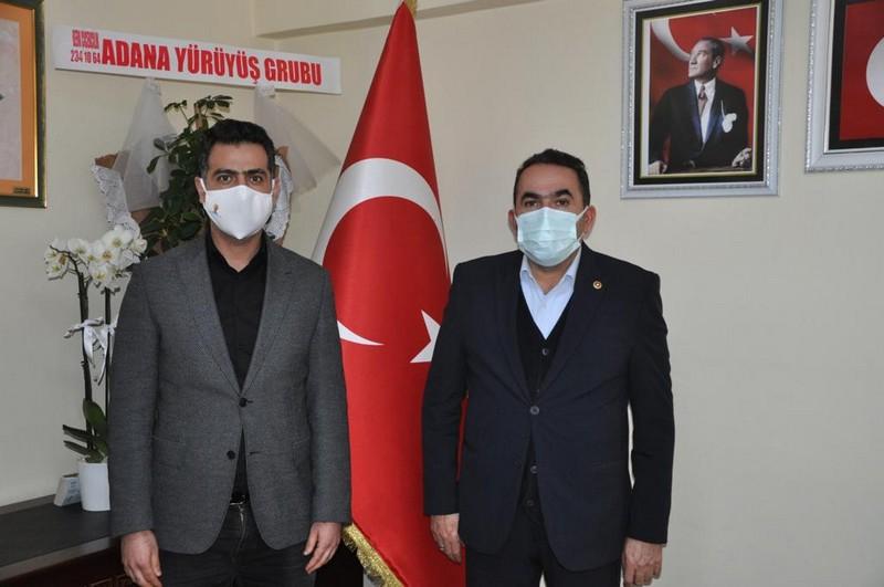 Milletvekili Abdullah Doğru, AK Parti Yüreğir İlçe Başkanlığı ziyareti