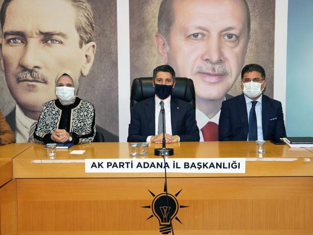 AK Parti Adana İl Yönetimi kongre sonrası ilk toplantısını gerçekleştirdi