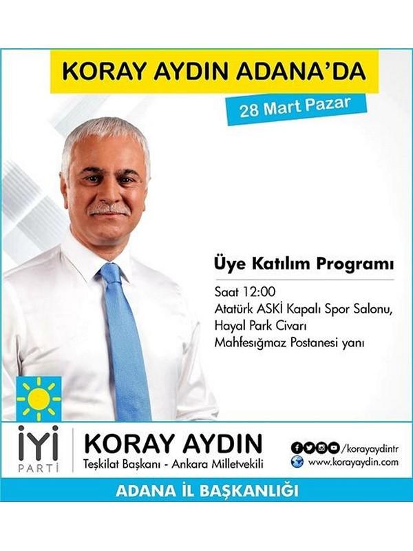 Koray Aydın'ın Adanayı ani ziyareti