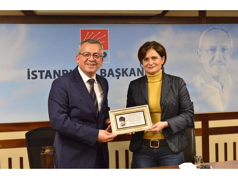 TDP İl Başkanı Polat'dan Kaftancıoğlu'na Ziyaret .
