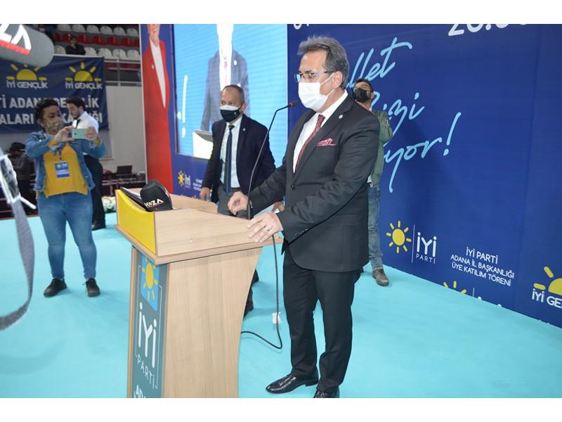 İyi Paarti Adana İl Başkanı Göktürk Boyvadaoğlu