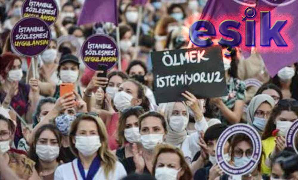 Eşitlik, Özgürlük ve Güvenli Yaşam için, Kadınların Yaşam Haklarını Korumak, Cinskırımı Durdurmak için, Kadınların Hakları ve Hayatları için İstanbul Sözleşmesi Uygulansın,