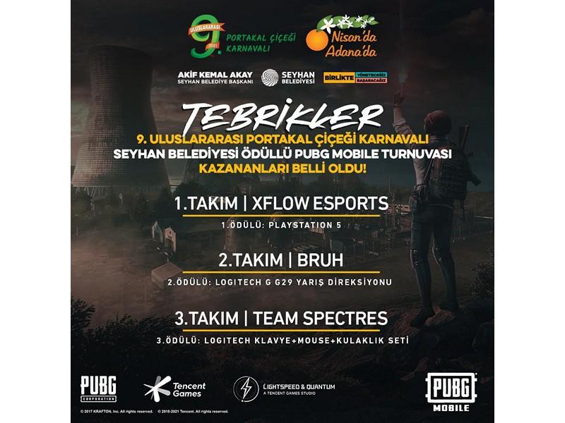 PUBG Turnuvası'nın Şampiyonu 'XFLOW ESPORTS'