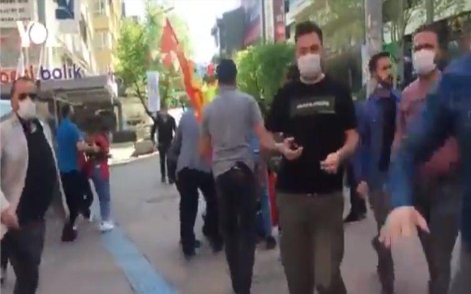 1 Mayıs eylemlerini görüntüleyen gazetecilere polis engeli