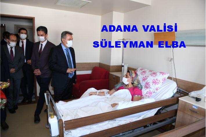 """Elban, """"Bugün Hastanemizi ziyaret ederek, tedavi gören vatandaşlarımıza hem 'Geçmiş olsun' dileklerimizi iletmek hem de bayramlarını kutlamak istedik. Tüm hastalara Allah'tan şifa diliyorum."""" dedi."""