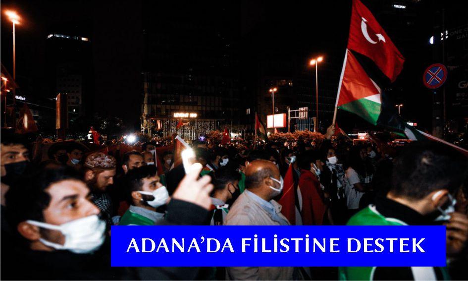 Adana'da Kudüs'e destek gösterisi