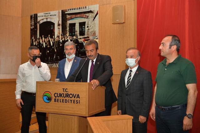Çukurova Belediye Meclisi'nde grubu bulunan partiler ortak bildiri