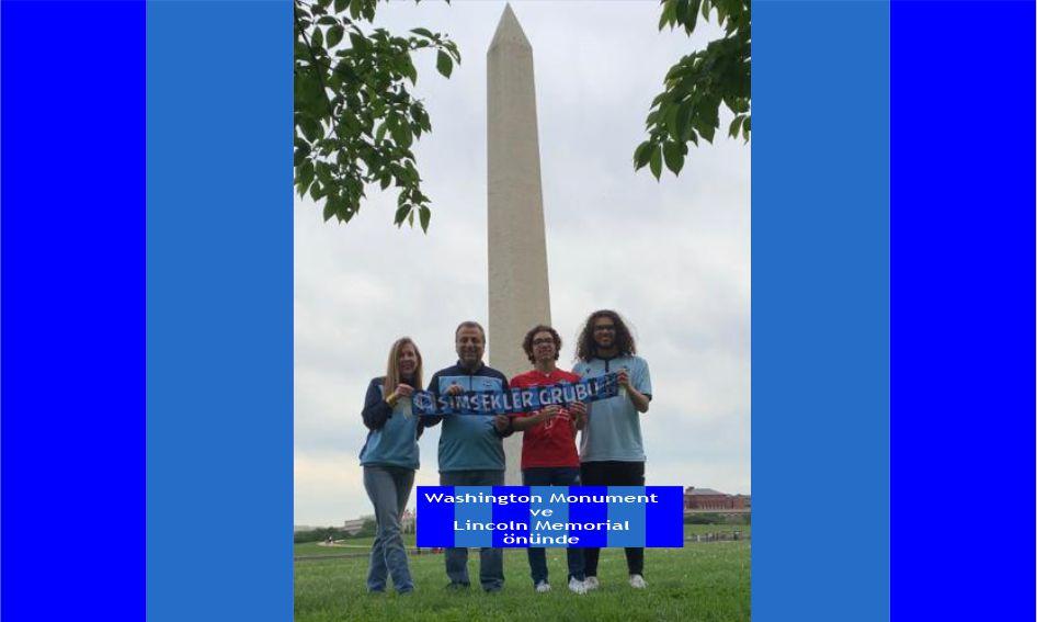 Washington Monument ve Lincoln Memorial önünde