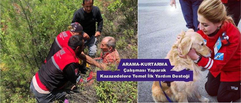 ARAMA-KURTARMA çalışması yaparak kazazedelere temel ilk yardım desteği