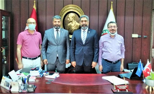 Mersin Barosu Başkanı Av. Bilgin Yeşilboğaz, Adana Baro Başkanı Av. Veli Küçük'e Nezaket Ziyaretinde Bulundu.