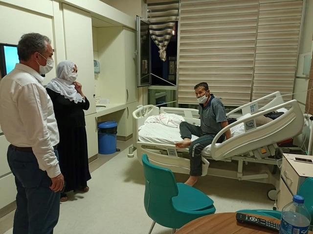 Başkanı Kılınç Hasta Ziyaretinde