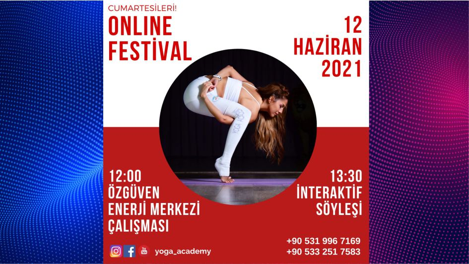 Covıd-19'a Karşı En Etkili Festival! 12 Haziran 2021 Büyük bir ilgiyle takip edilen Cumartesileri yapılan İstanbul Festivali, Covid-19 nedeniyle alınan önlemler kapsamında 12 Haziran Cumartesi günü tüm dünyaya ONLINE olarak sunulacak.