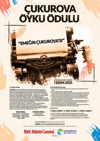 """Çukurova Belediyesi ve Yeni Adana Gazetesi """"Çukurova Öykü Ödülü Yarışması"""" düzenliyor"""