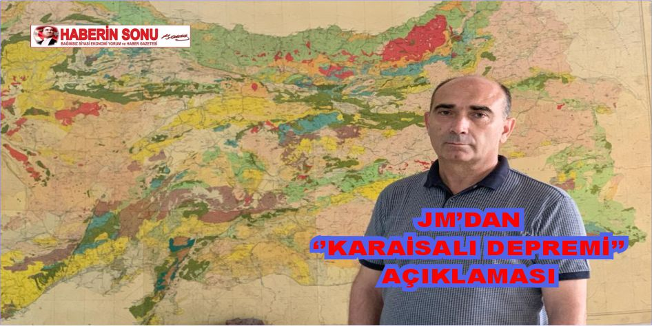 JMO'dan 'Karaisalı Depremi' açıklaması