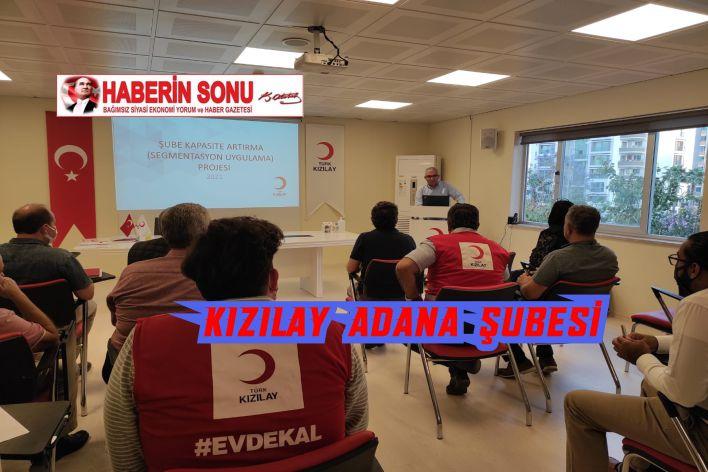 Türk Kızılay'ın Segment Bazlı Şube Kapasite Geliştirme Projesi kapsamında ilk program Adana'da gerçekleştirildi.