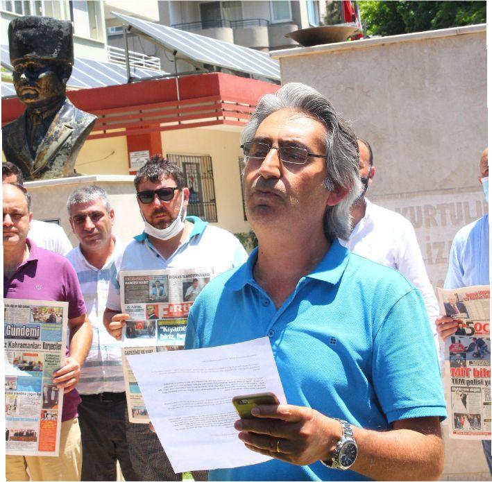 TGS Adana Şube Başkanı Salim Büyükkaya ve gazeteciler katıldı.