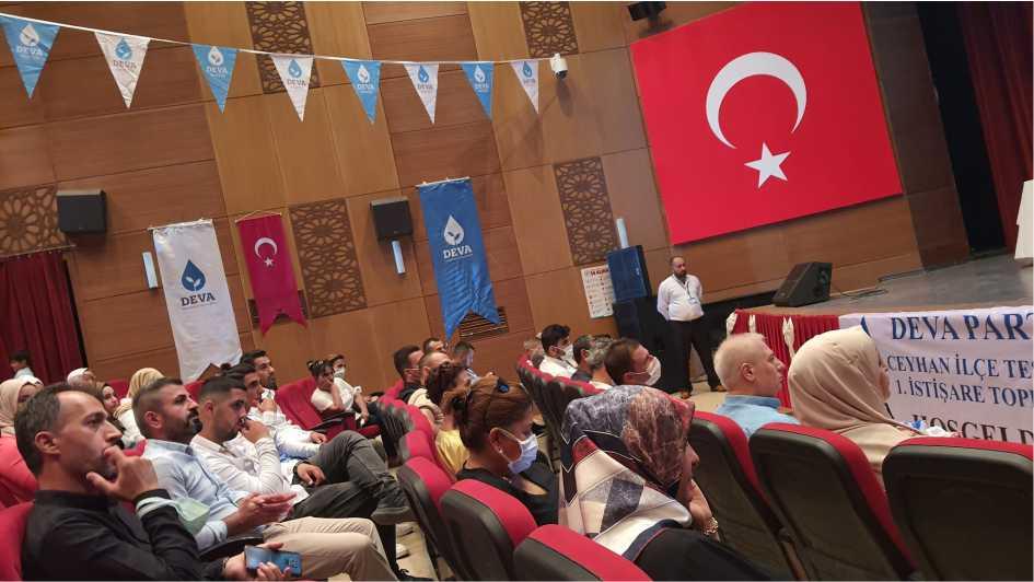 Deva Partisi Ceyhan İlçe Başkanlığı 1. İstişare Toplantısını Gerçekleştirdi