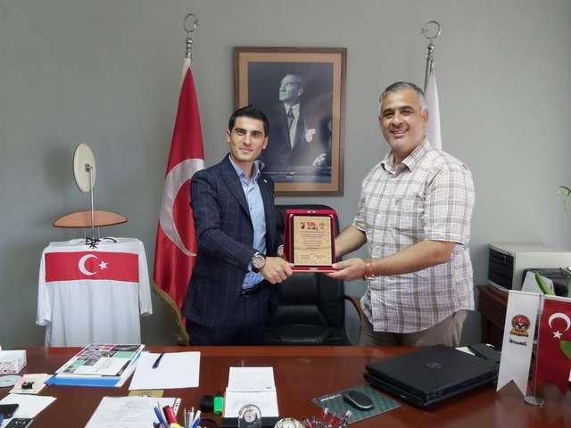 Genç Başkan Özgür Subaşı Tüfad Başkanı Mehmet Yorulmazlar'ı Makamında Ziyaret etti.
