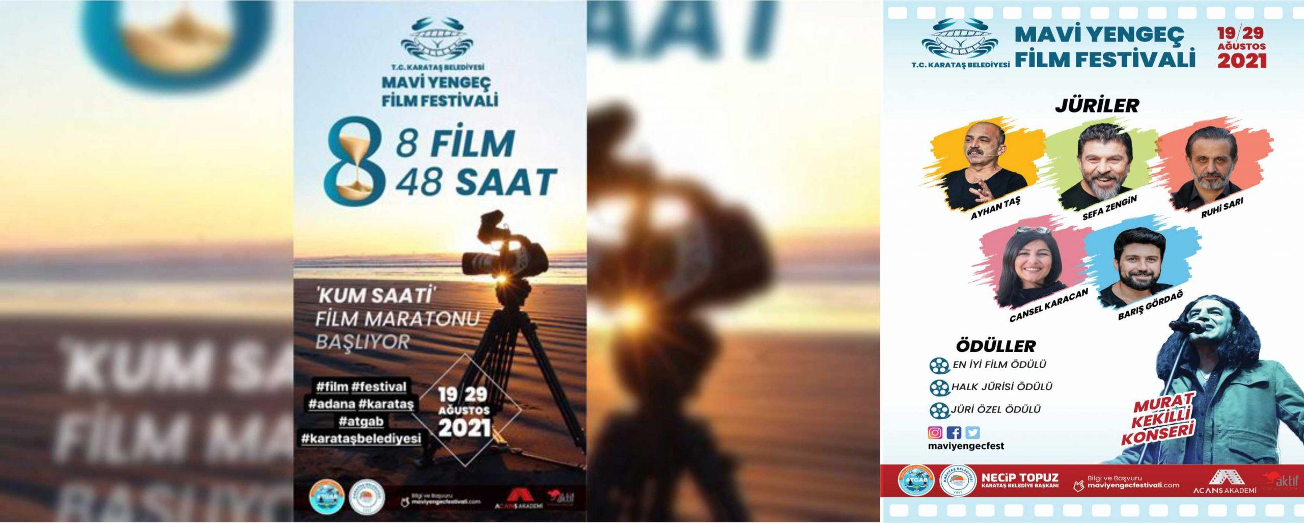 Karataş Belediyesi 1. Ulusal Mavi Yengeç Kısa Film Festivali Başlıyor.