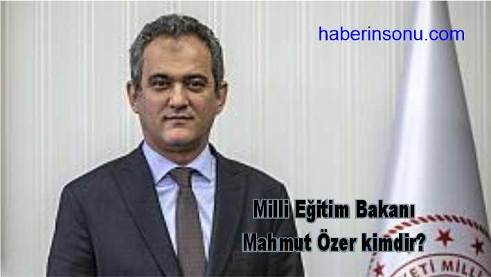 Cumhurbaşkanı Recep Tayyip Erdoğan, görevinden ayrılan Milli Eğitim Bakanı Prof. Dr. Ziya Selçuk'un yerine, Prof. Dr. Mahmut Özer'i atadı.