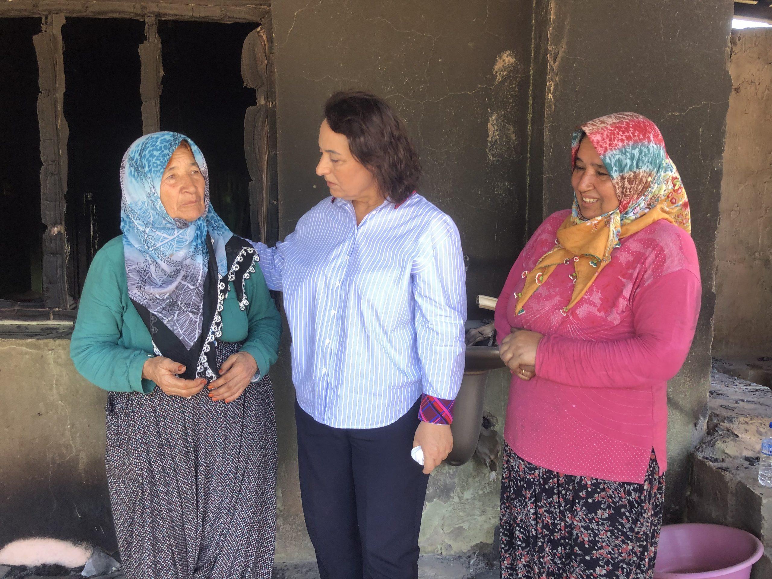 ŞEVKİN yangın Bölgesinde Bölge kadınlarla görüştü