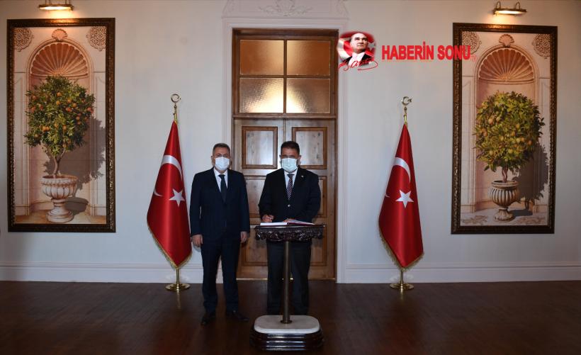 KKTC BAŞBAKANI ERSAN SANER'DEN VALİ ELBAN'A ZİYARET