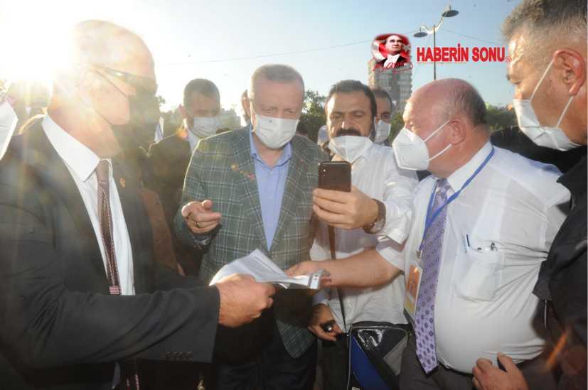Cumhurbaşkanı Erdoğan'a, ÇGC Başkanı Cafer Esendemir, çeşitli sorunları içeren dosya sundu.