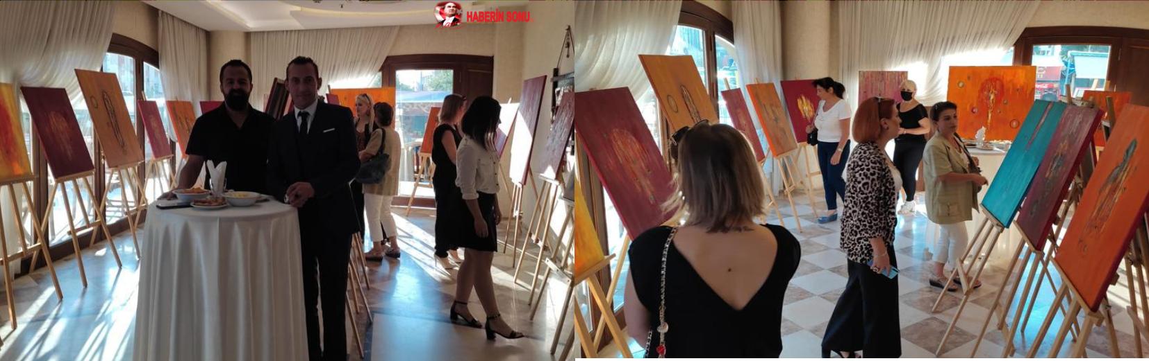 Ressam Safter Çevirgen'in Çarpıntı isimli resim sergisi Adana'da açıldı.